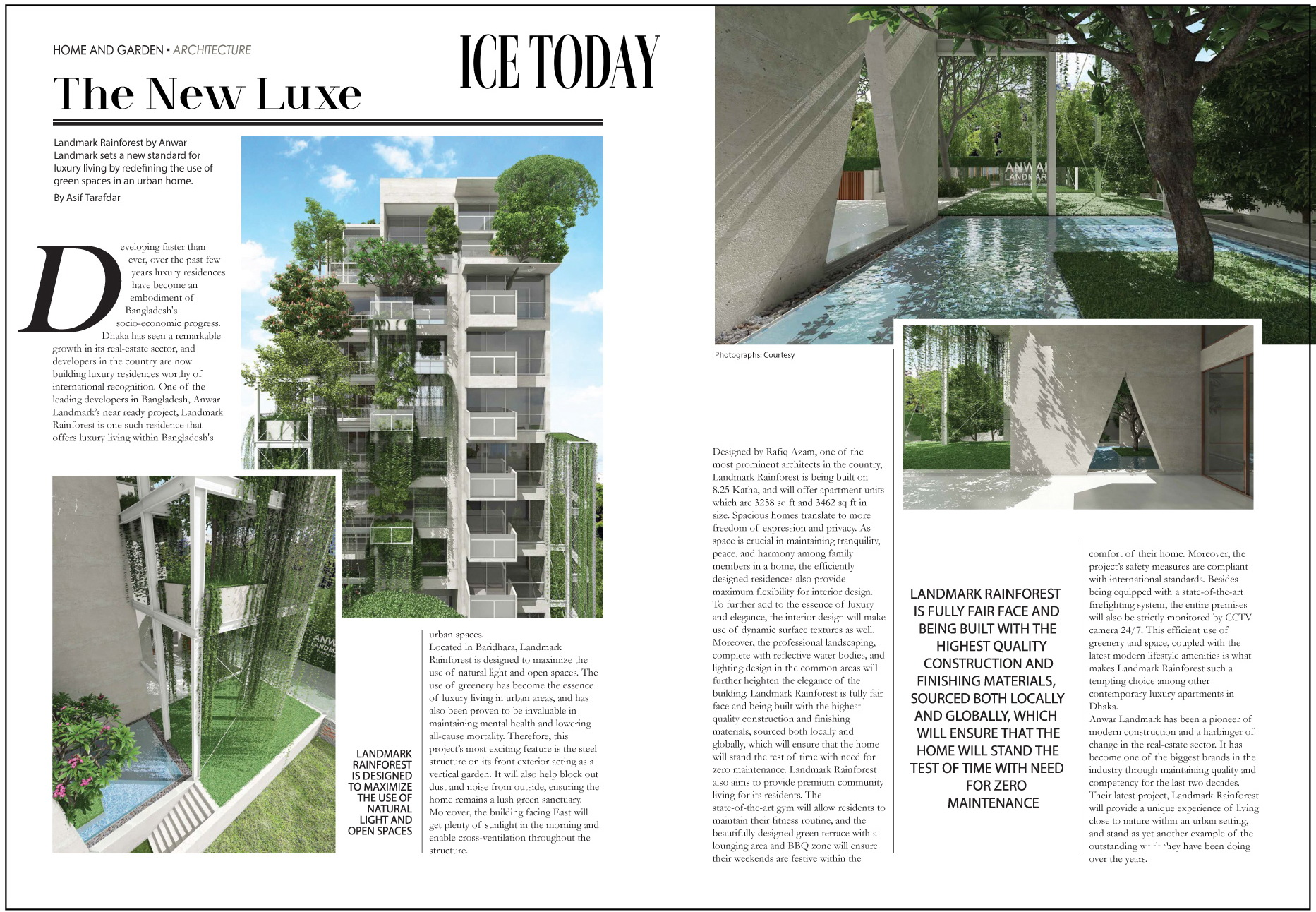 The New Luxe – Landmark Rainforest (Published in Ice Today in May 2021 Issue)