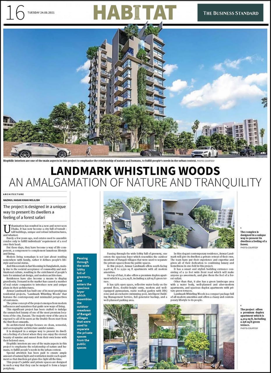 Landmark Whistling Woods - An amalgamation of nature and tranquility (Published in The Business Standard on Aug 24, 2021)